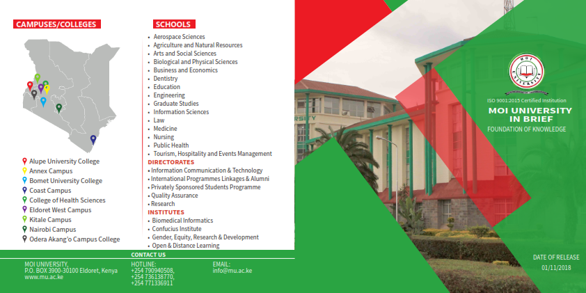 Moi University at a glance 001